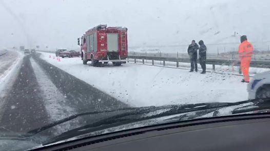 Wideo1: Kolizja w śnieżycy na S5 w kierunku Wrocławia