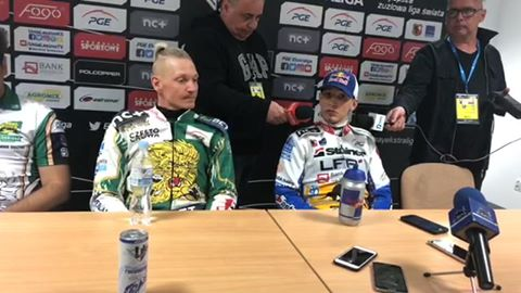 Wideo: Konferencja prasowa po meczu Fogo Unia Leszno - forBet Włókniarz Częstochowa 53:37