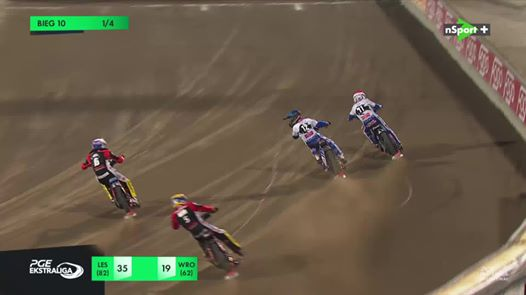 Wideo: Fogo Unia Leszno - Betard Sparta Wrocław - bieg 10
